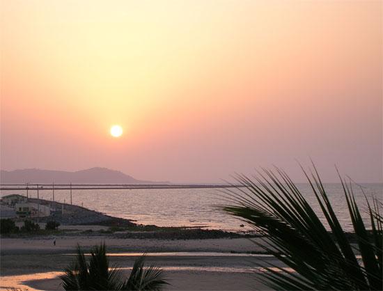 Coucher de soleil Conakry Guinée