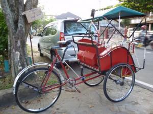 Cyclo pousse Bornéo