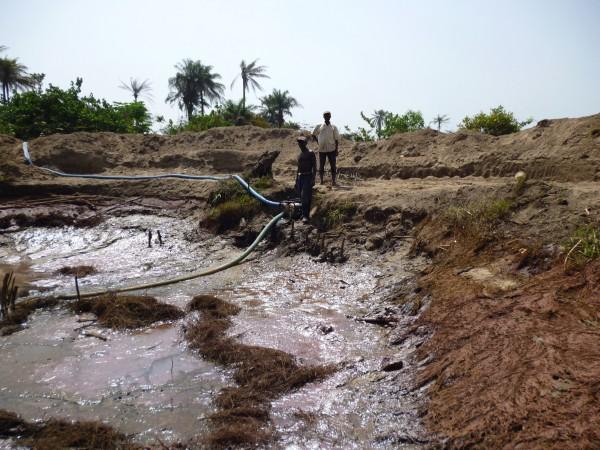 Mine de diamants vers Kindia Guinée