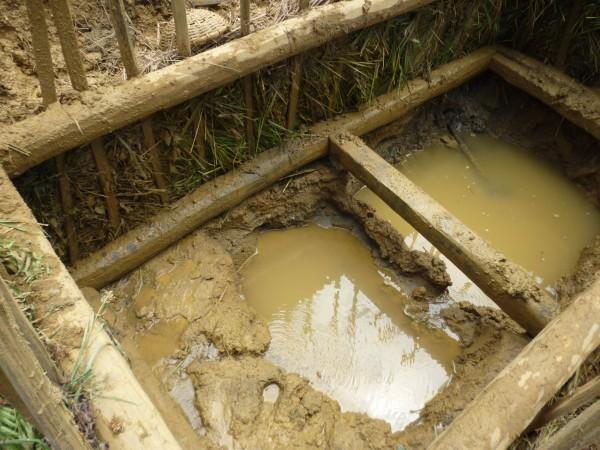 puits de mine inondé, Ratnapura