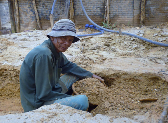 Mineur diamants Bornéo