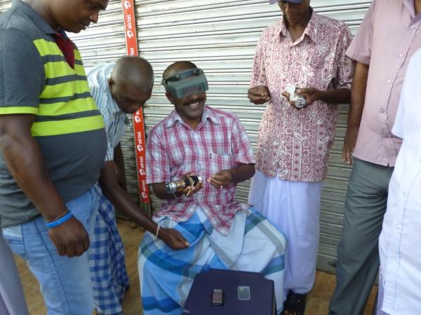 Négociant marché aux pierres, Sri Lanka