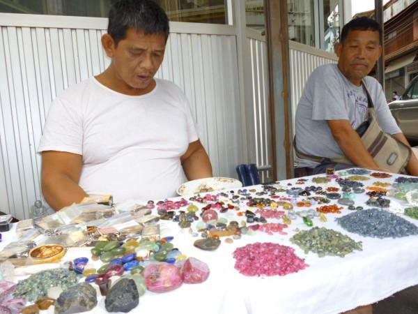 Stand de pierres, Chanthaburi, Thailande